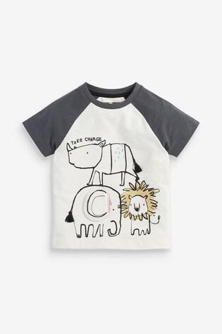 Multi Safari Appliqué T-Shirt (3mths-7yrs)