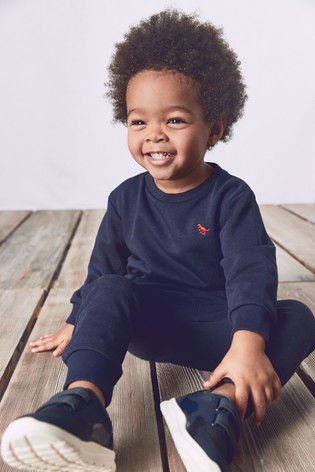 Navy Crew and Joggers Jersey Set (3mths-7yrs)