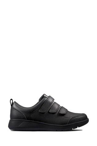 Clarks Kids Black Scape Sky Shoe