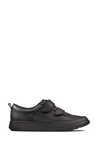 Clarks Black Leather Scape Flare Y Shoes