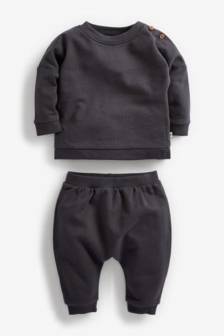 Charcoal Sweatshirt And Joggers Set (0mths-2yrs)