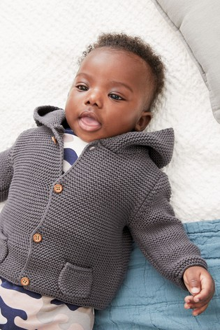 Charcoal Hooded Cardigan (0mths-3yrs)