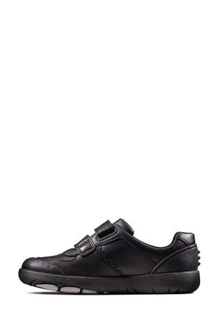 Clarks Black Rex Pace K Shoes