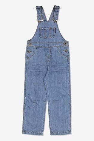 Polarn O. Pyret Blue Organic Cotton Denim Dungarees