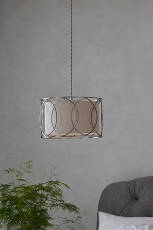 Chrome Claridge Easy Fit Lamp Shade