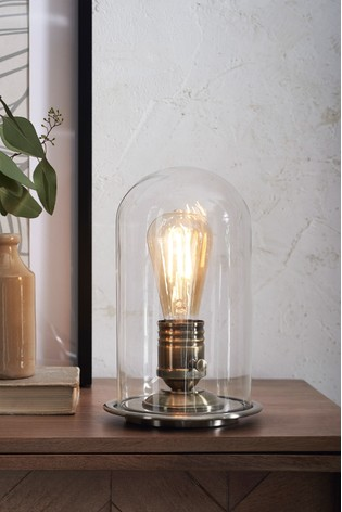 Pewter Cloche Table Lamp