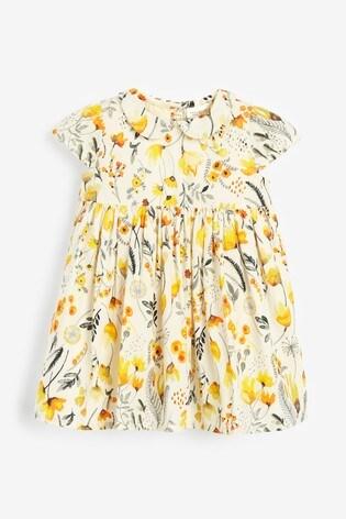 Ochre Prom Dress And Cardigan Set (0mths-2yrs)