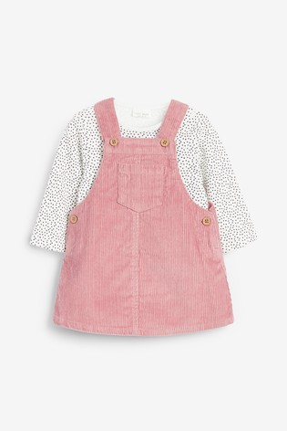 Pink Cord Dress And Bodysuit (0mths-2yrs)