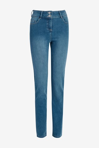 Mid Blue Enhancer Slim Jeans