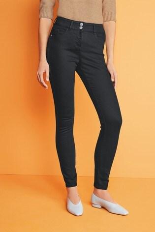 Black Enhancer Skinny Jeans