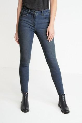 Mid Blue Soft Stretch Jersey Denim Skinny Jeans