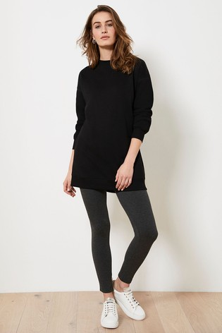 Mint Velvet Dark Grey Straight Leggings