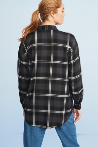 Monochrome Check Boyfriend Shirt