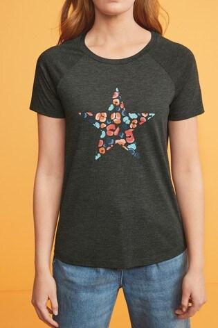 Charcoal Animal Star Raglan T-Shirt