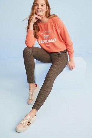 Orange Fort Lauderdale Graphic Sweatshirt