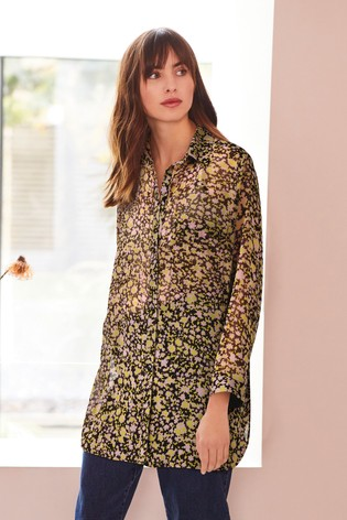 Pink Floral Print Tunic