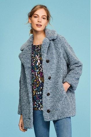 Blue Teddy Borg Coat