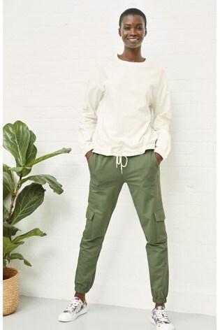 Ecru Pocket Detail Sweatshirt