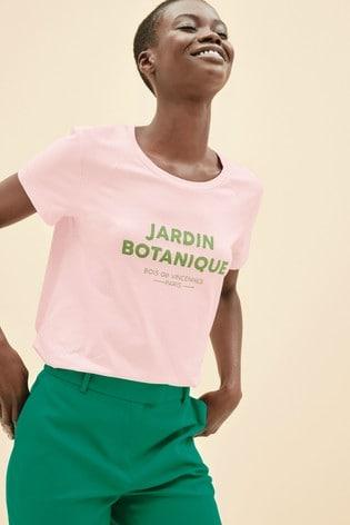 Pink Graphic Raglan T-Shirt