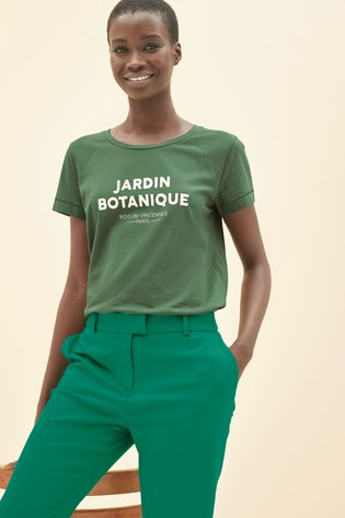 Green Graphic Raglan T-Shirt