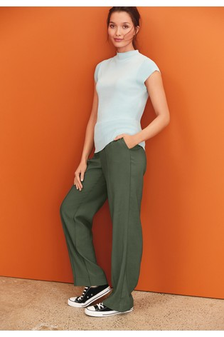 Khaki Slouch Trousers