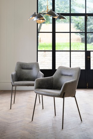 2 Quinn Dining Chairs With Black Legs, Dining Room Chairs Uk Black