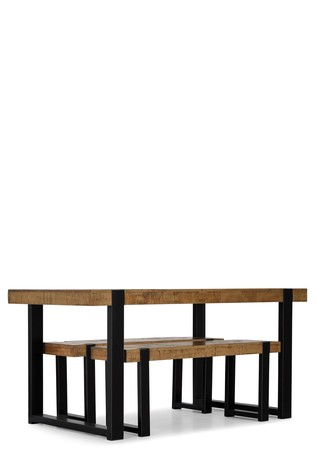 Jefferson Rustic 4 Seater Bench Set