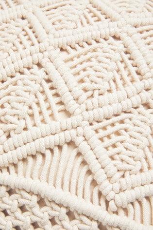 Macramé Tassel Cushion