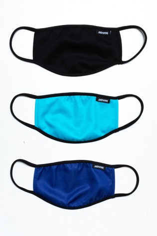 Hype. Adults Mono Aqua Face Covering Three Pack Set