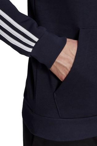 adidas 3 Stripe Fleece Pullover Hoodie