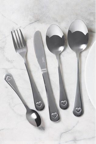 Heart 16pc Cutlery Set