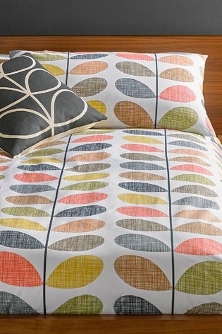 Set of 2 Orla Kiely Scribble Stem Floral Cotton Pillowcases