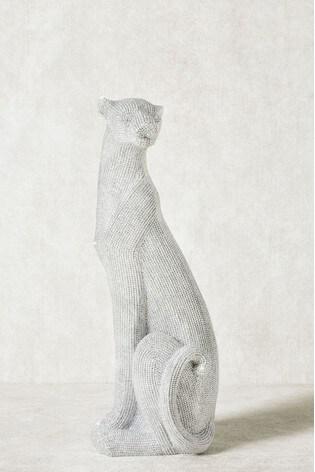 Diamanté Effect Panther Sculpture