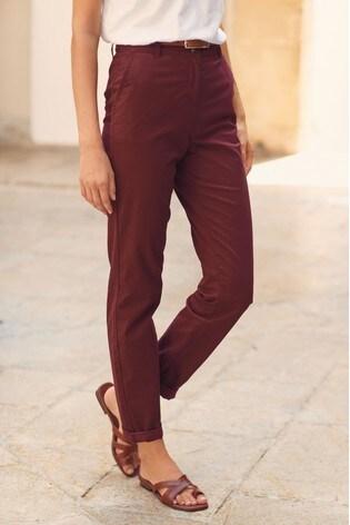 Plum Chino Trousers