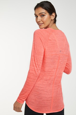 Coral Long Sleeve Sports Top