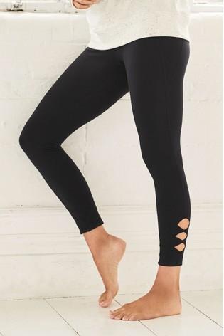 Black Lattice Leggings