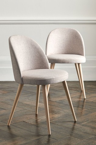Buy Set Of 2 Zola Dining Chairs With Light Legs From The Next Uk