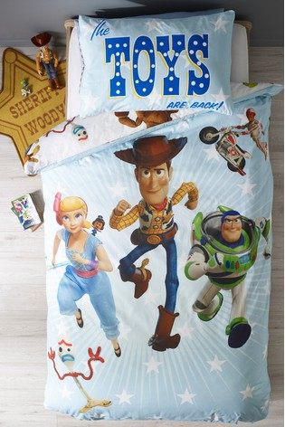 Disney™ Toy Story 4 Printed Reversible Duvet Cover And Pillowcase Set