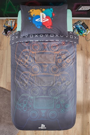 PlayStation™ Reversible Duvet Cover and Pillowcase Set