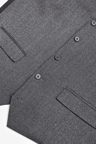 Grey Donegal Suit: Waistcoat