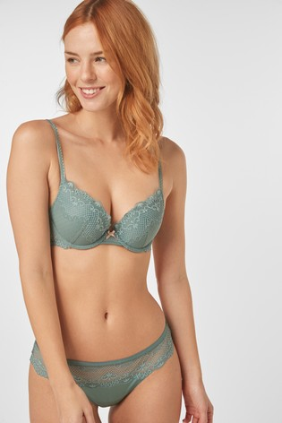 Mint Cara Push-Up Plunge Bra