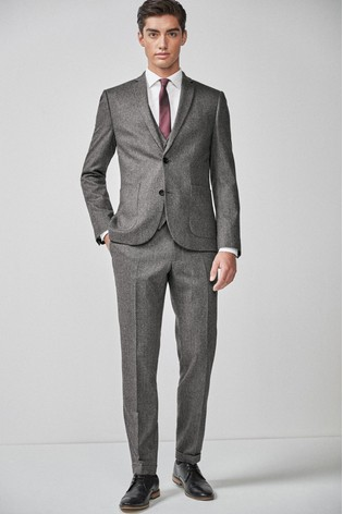 Grey Herringbone Suit: Waistcoat