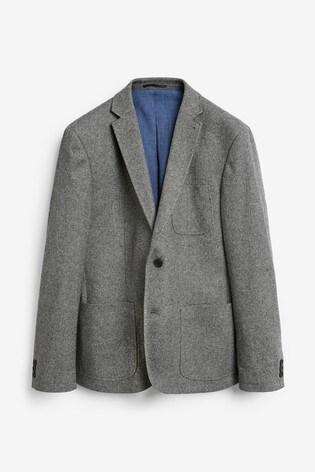 Light Grey Slim Fit Nova Fides Signature Three Button Blazer