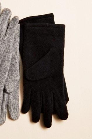 Black Fleece Gloves