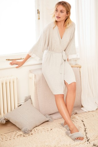 Grey Stripe Supersoft Modal Robe