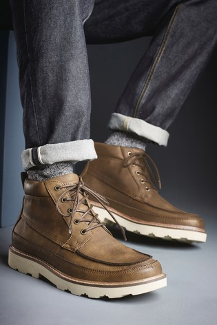 factory outlet nice cheap details for Brown EVA Sole Apron Boots