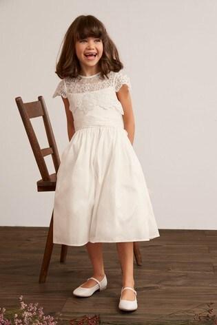 Ivory Lace Bodice Dress (3-16yrs)