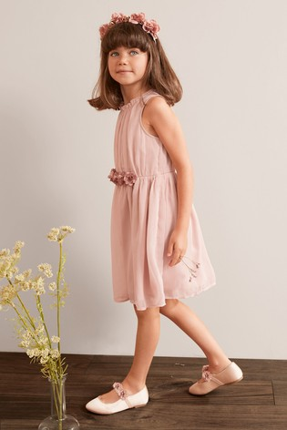 Pink Corsage Dress (3-16yrs)