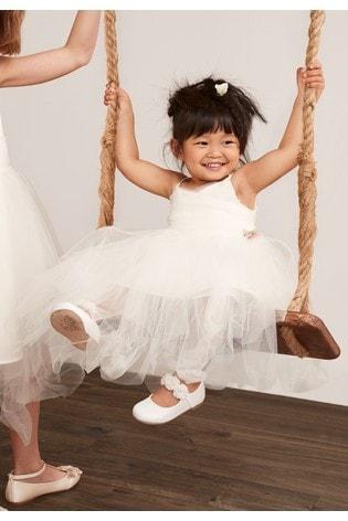 Ecru Corsage Bridesmaid Dress (3mths-7yrs)