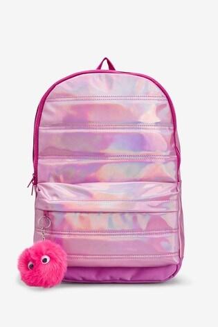 Pink Metallic Rucksack
